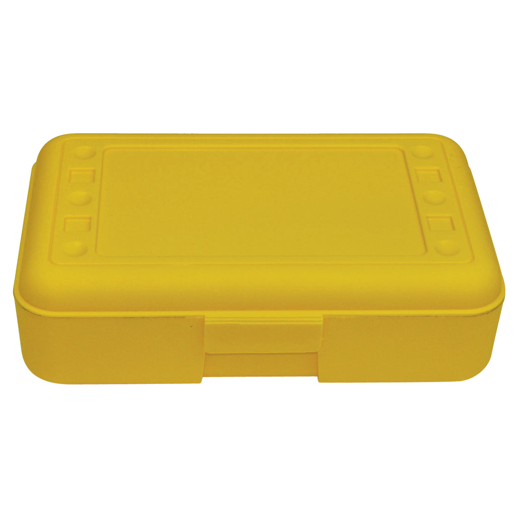 (12 Ea) Pencil Box Yellow