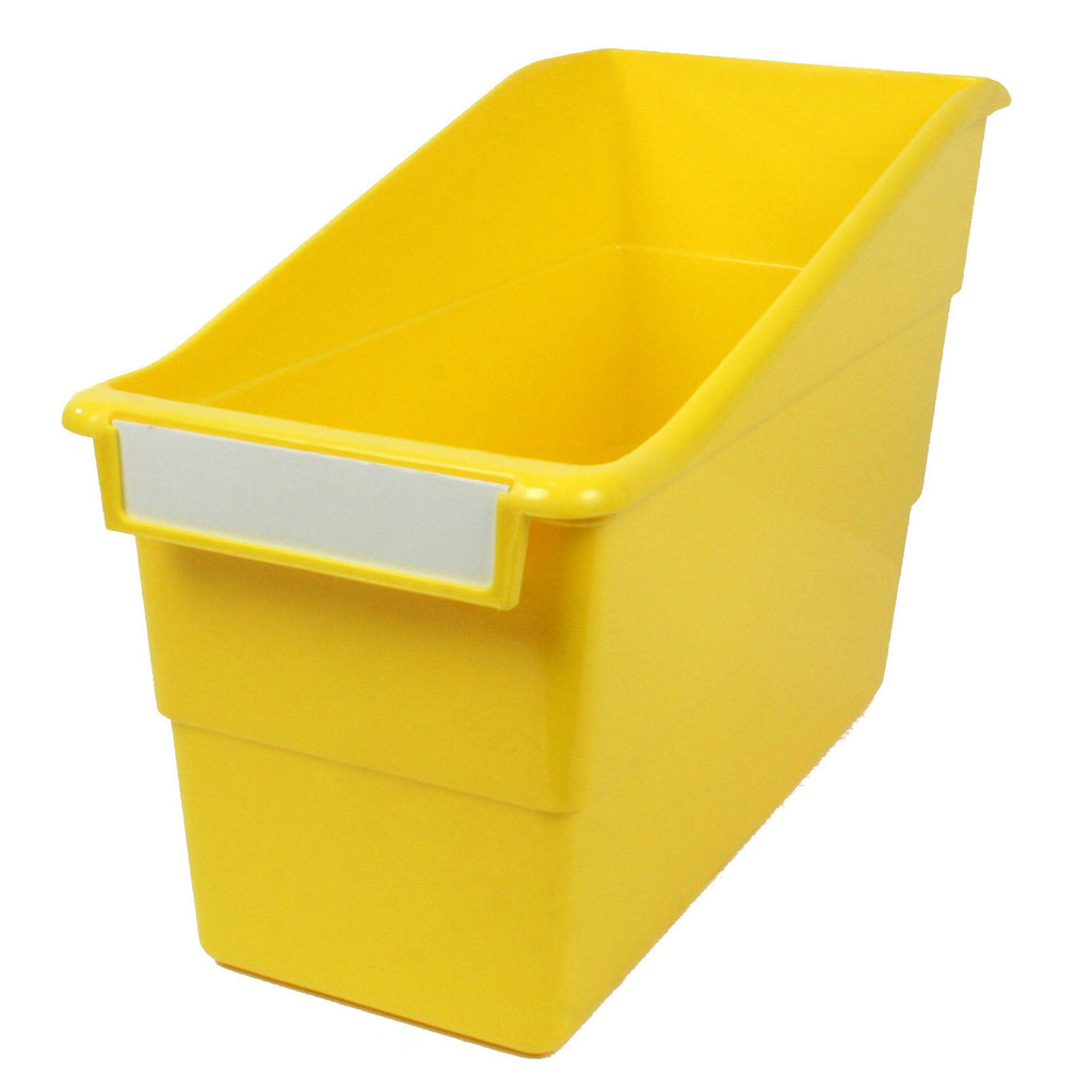 Yellow Shelf File With Label Holder Standard