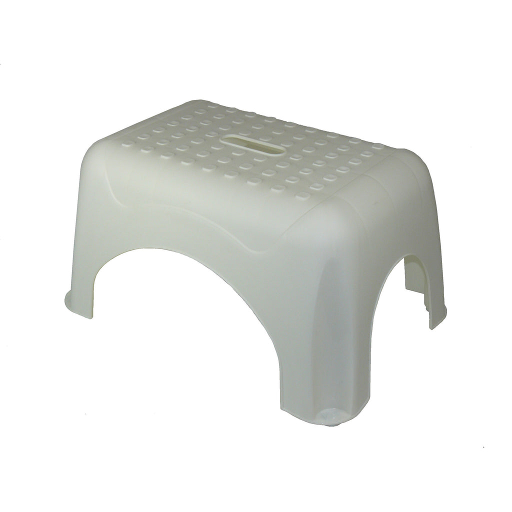 (2 Ea) Step Stool White 17.5x12.25x9.25