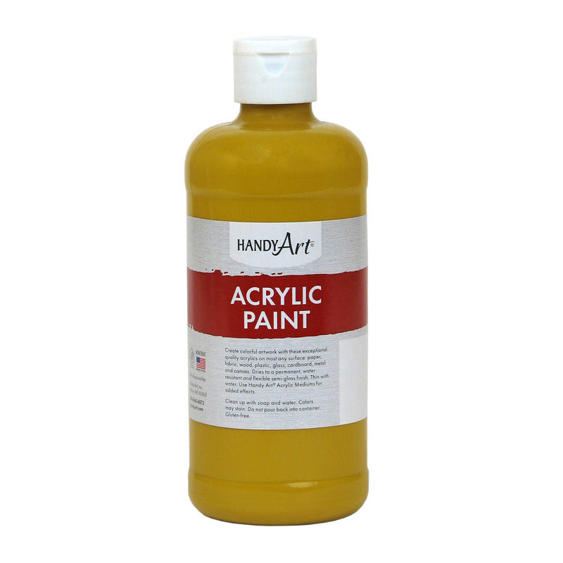 Acrylic Paint 16 Oz Yellow Oxide