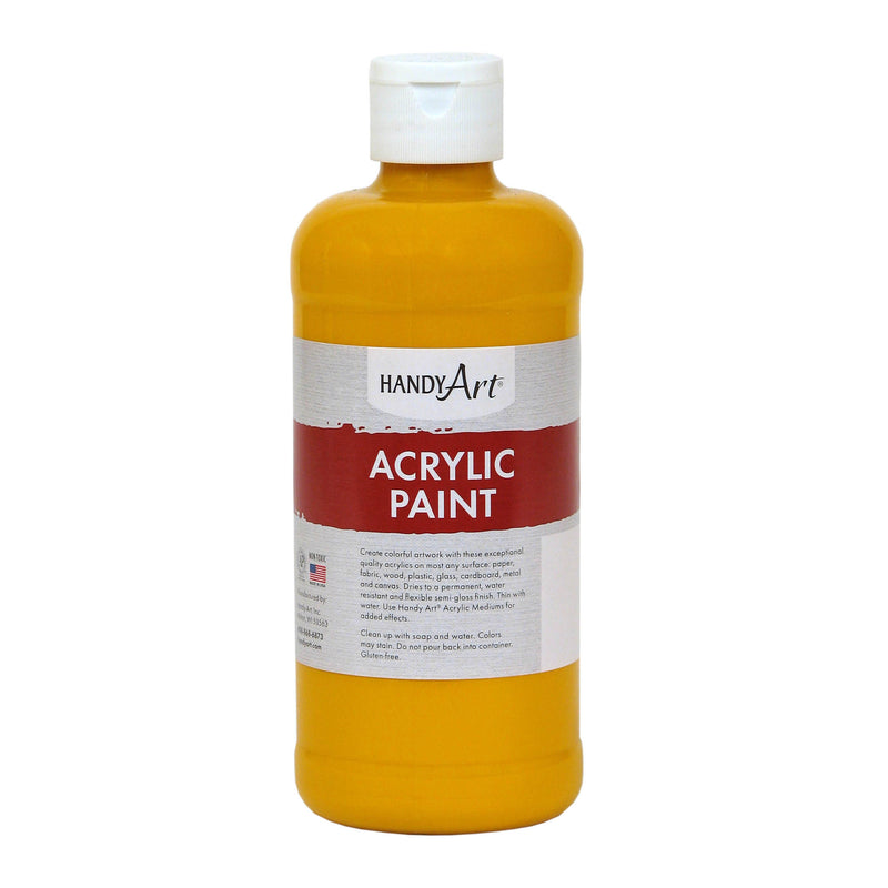 (3 Ea) Acrylic Paint 16 Oz Deep Ylw
