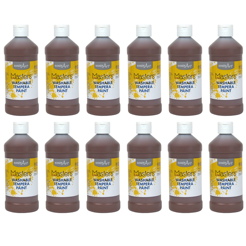 (12 Ea) Little Masters Brown 16oz Washable Paint