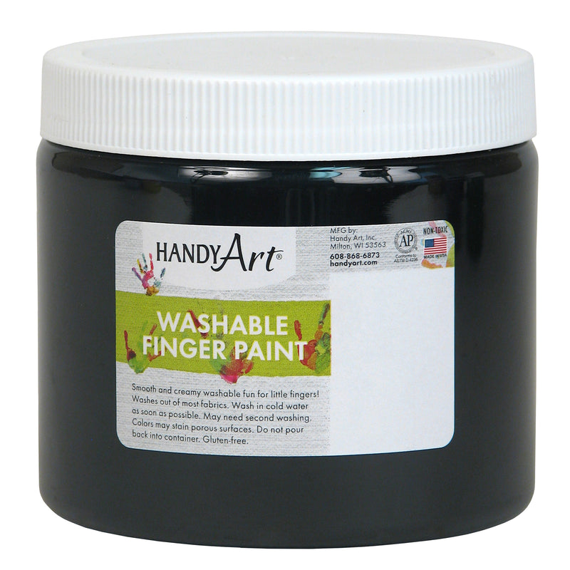 (6 Ea) Handy Art Blk 16oz Washable Finger Paint