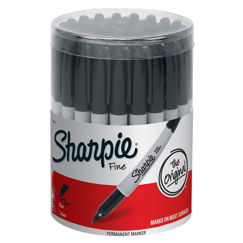 Sharpie Fine Black 36ct Canister