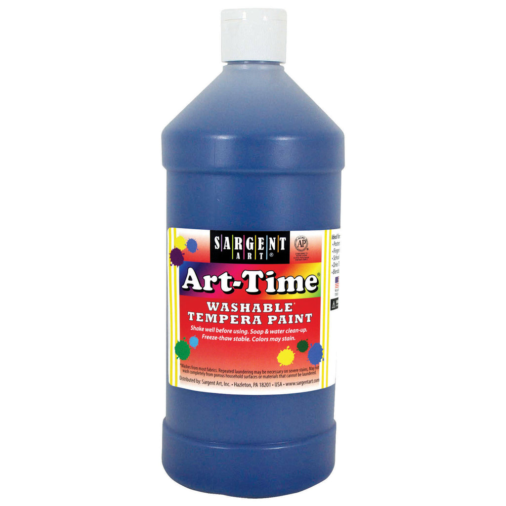 Blue Art-time Washable Paint 32 Oz