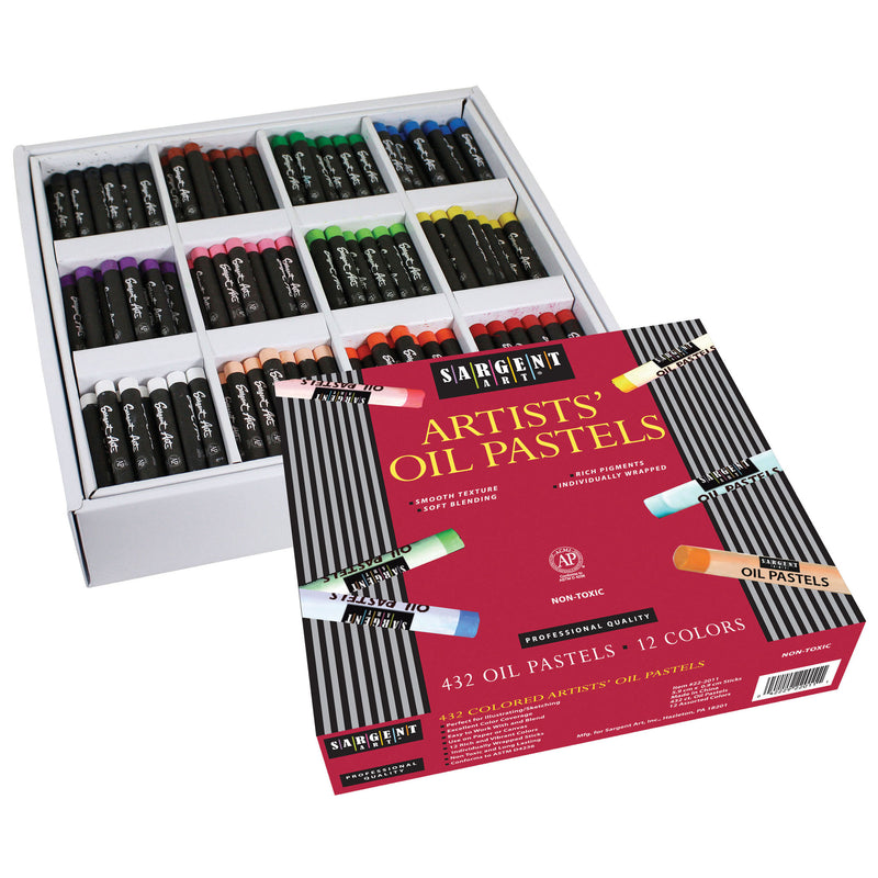 432ct Oil Pastel Assortment 12 Vibrant Colors