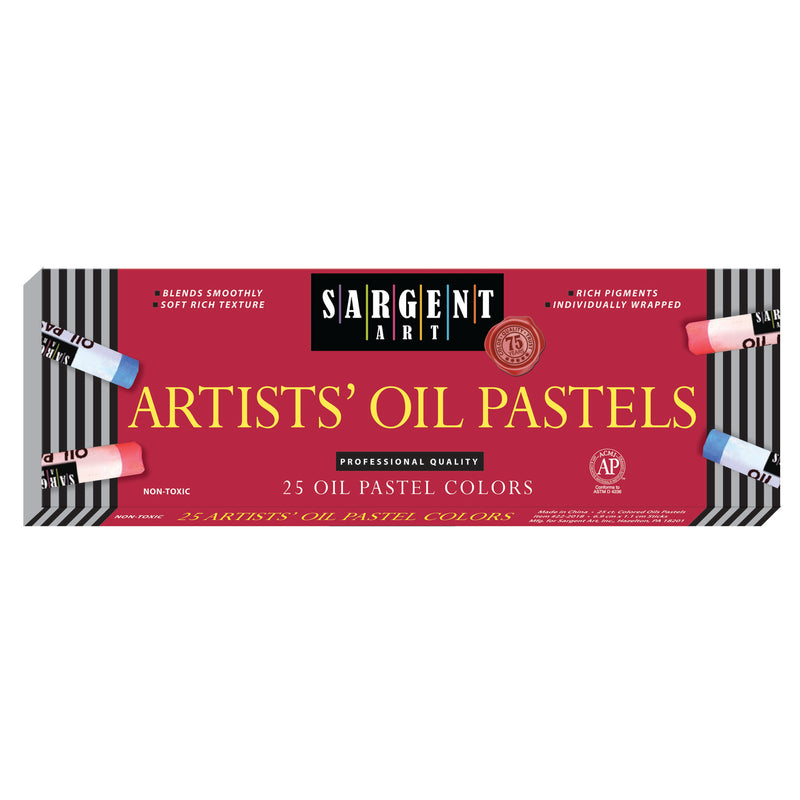 (6 Bx) Sargent Regular Oil Pastels 25 Per Bx