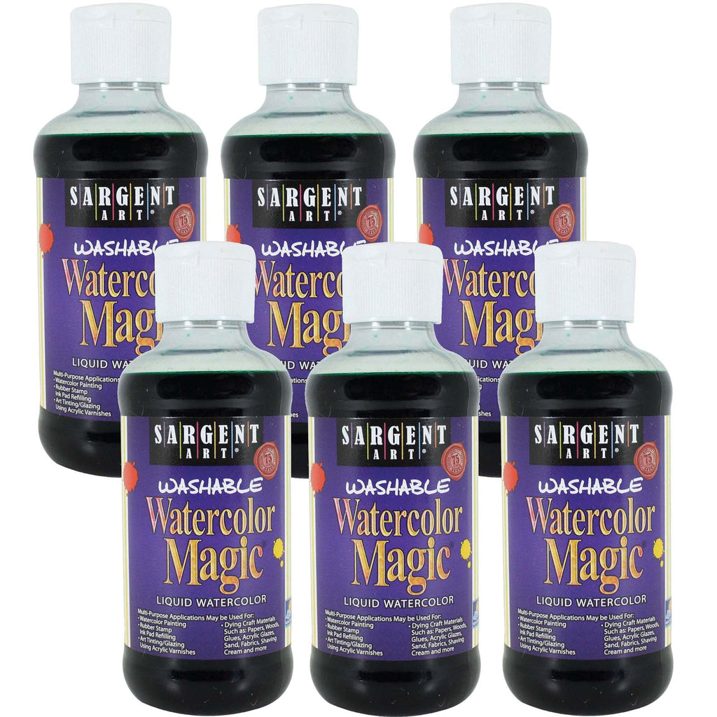 (6 Ea) Watercolor Magic Green 8oz