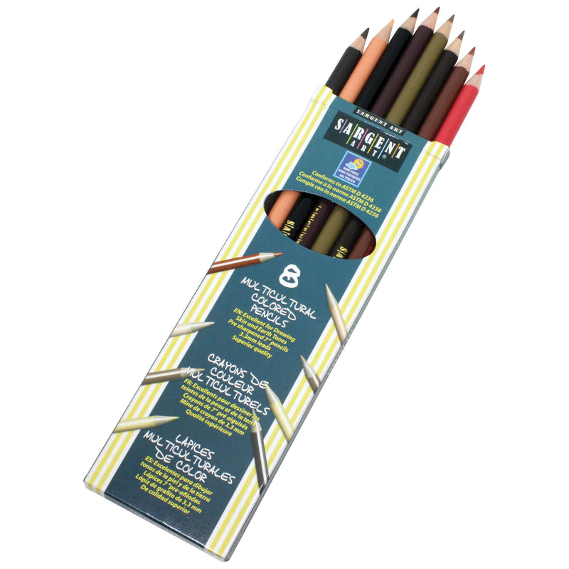 (12 Bx) Sargent Clrs Of My Friends Multicultural Pencil 7in 8 Per Bx