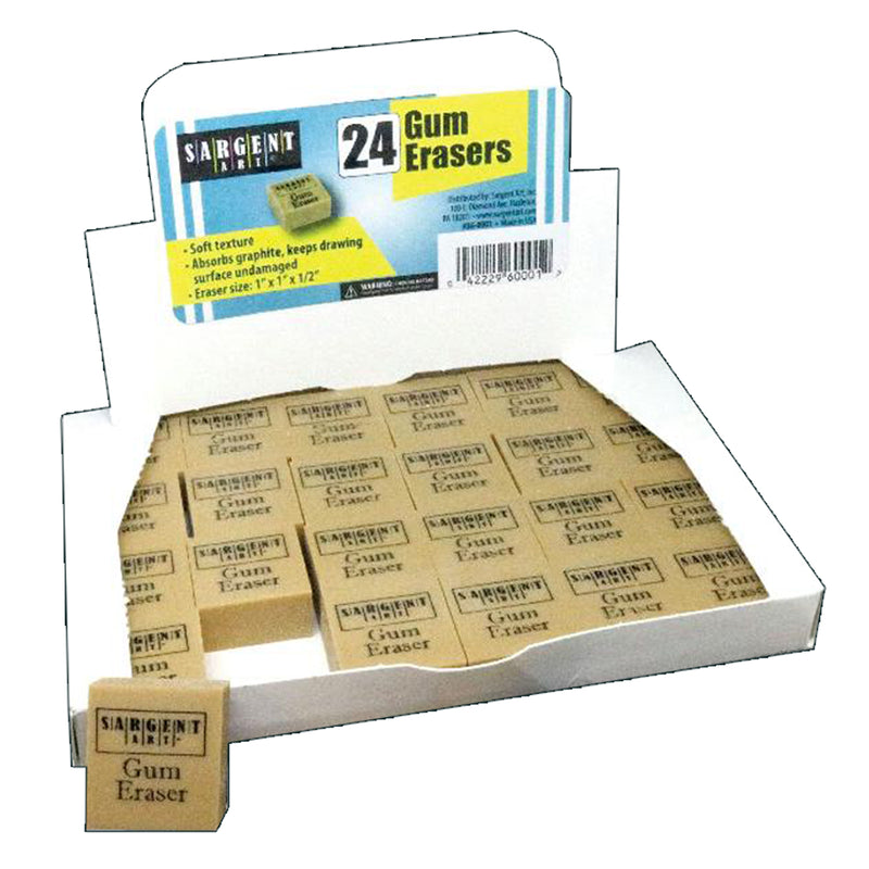 Gum Erasers Pack Of 24