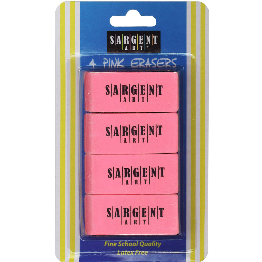 4ct Large Pink Eraser Pack