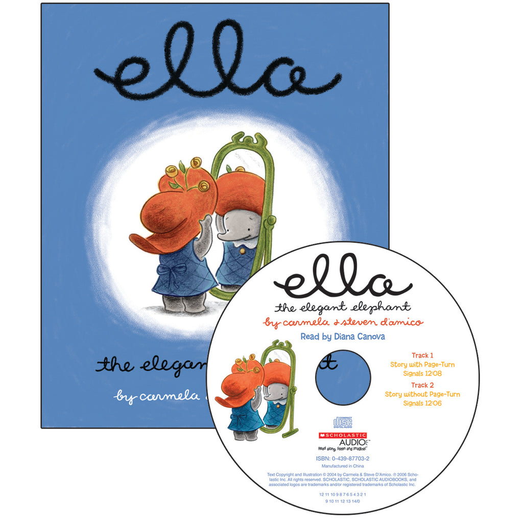 Ella The Elegant Elephant Carry Along Book & Cd
