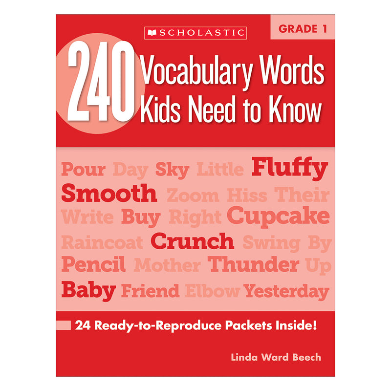 (2 Ea) 240 Vocabulary Words Kids Need To Know Gr 1