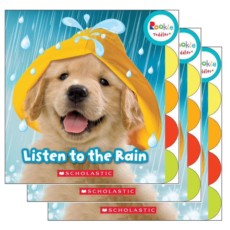 (3 Ea) Board Book Listen To The Rain Rookie Toddler