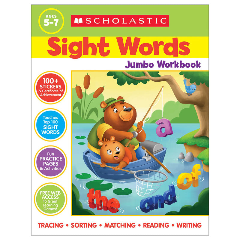 Scholastic Sight Words Jumbo Workbk
