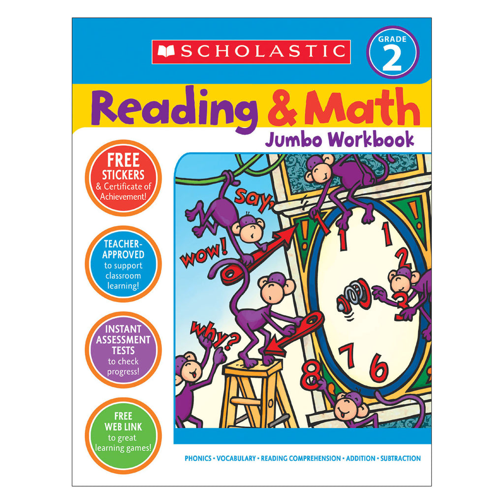 Reading & Math Jumbo Workbk Grade 2