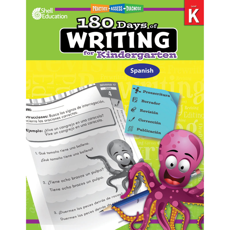 180 Days Of Writing Gr K Spanish