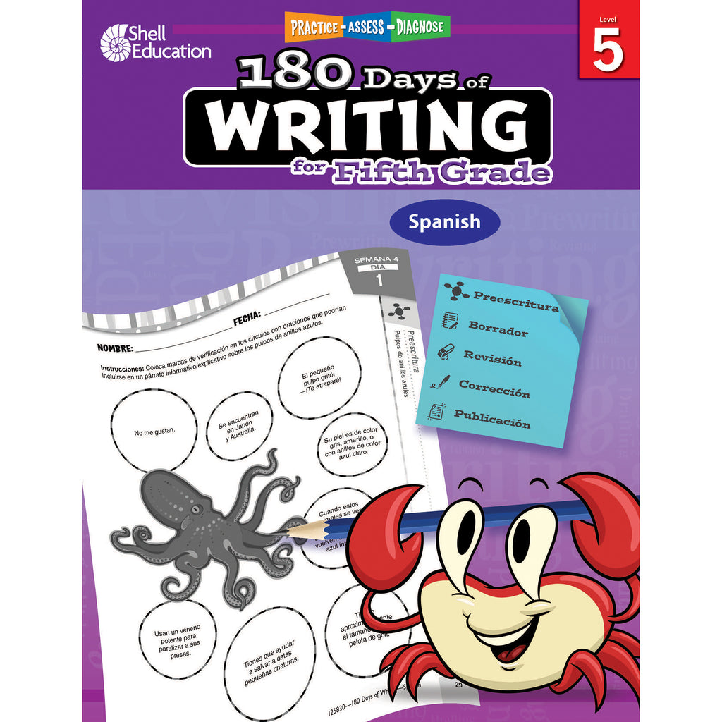 180 Days Of Writing Gr 5 Spanish