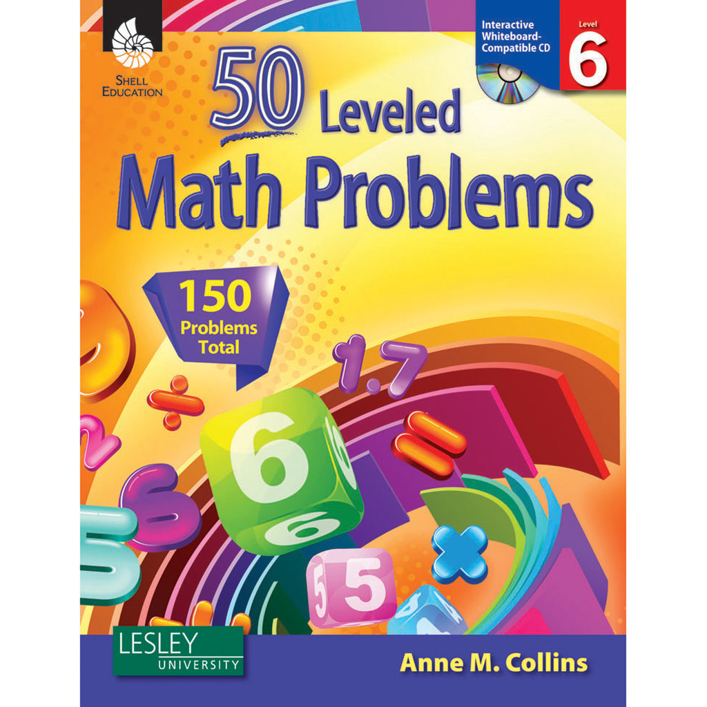 50 Leveled Math Problems Level 6 W- Cd