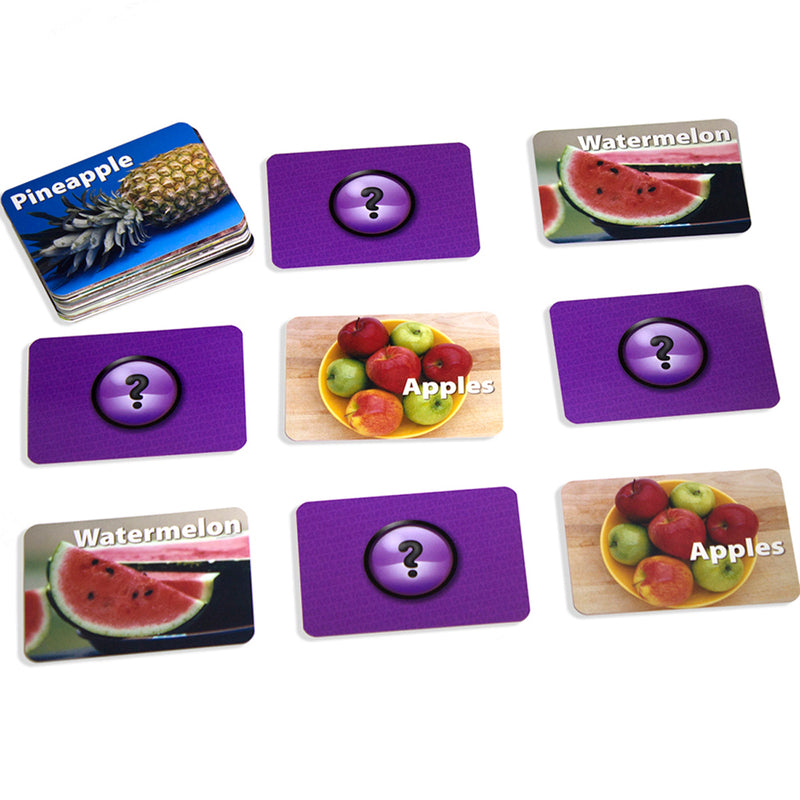 Fruit & Vegetables Photographic Memory Matching Game