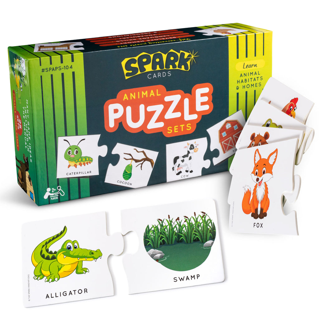 Animal Home & Habtat Matchng Puzzle