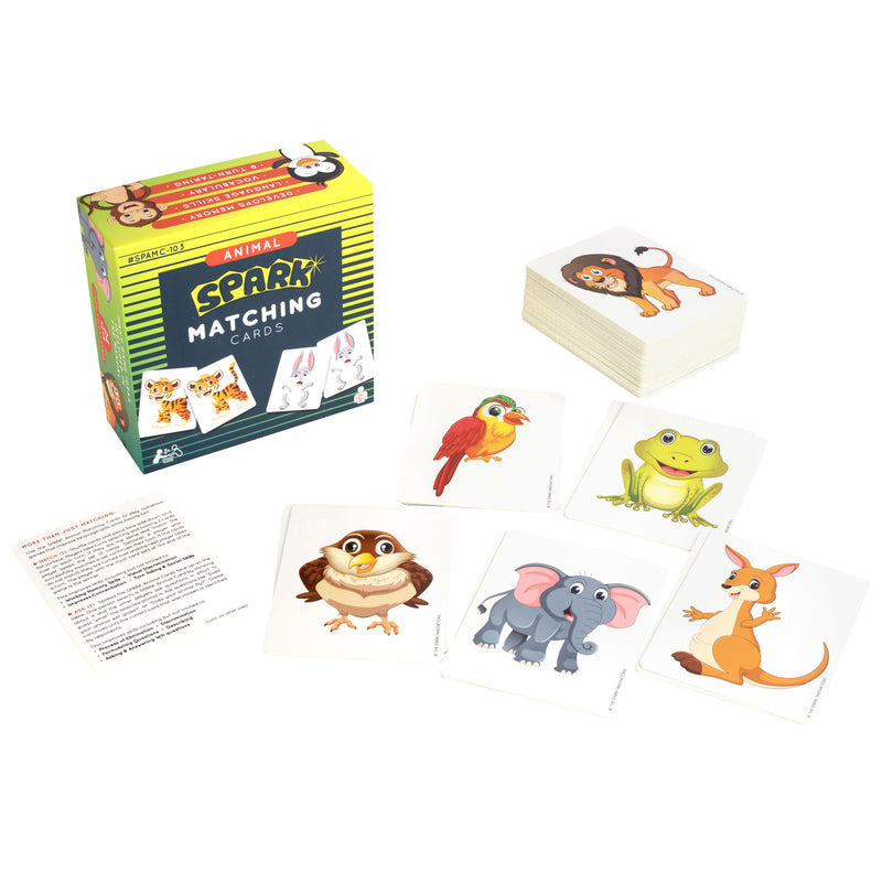 Animals Matching Cards Memory Game
