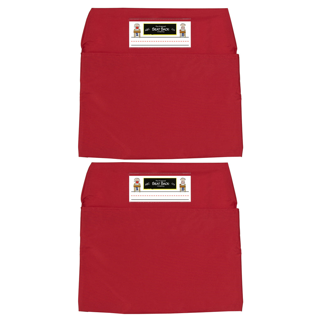 (2 Ea) Seat Sack Standard 14in Red
