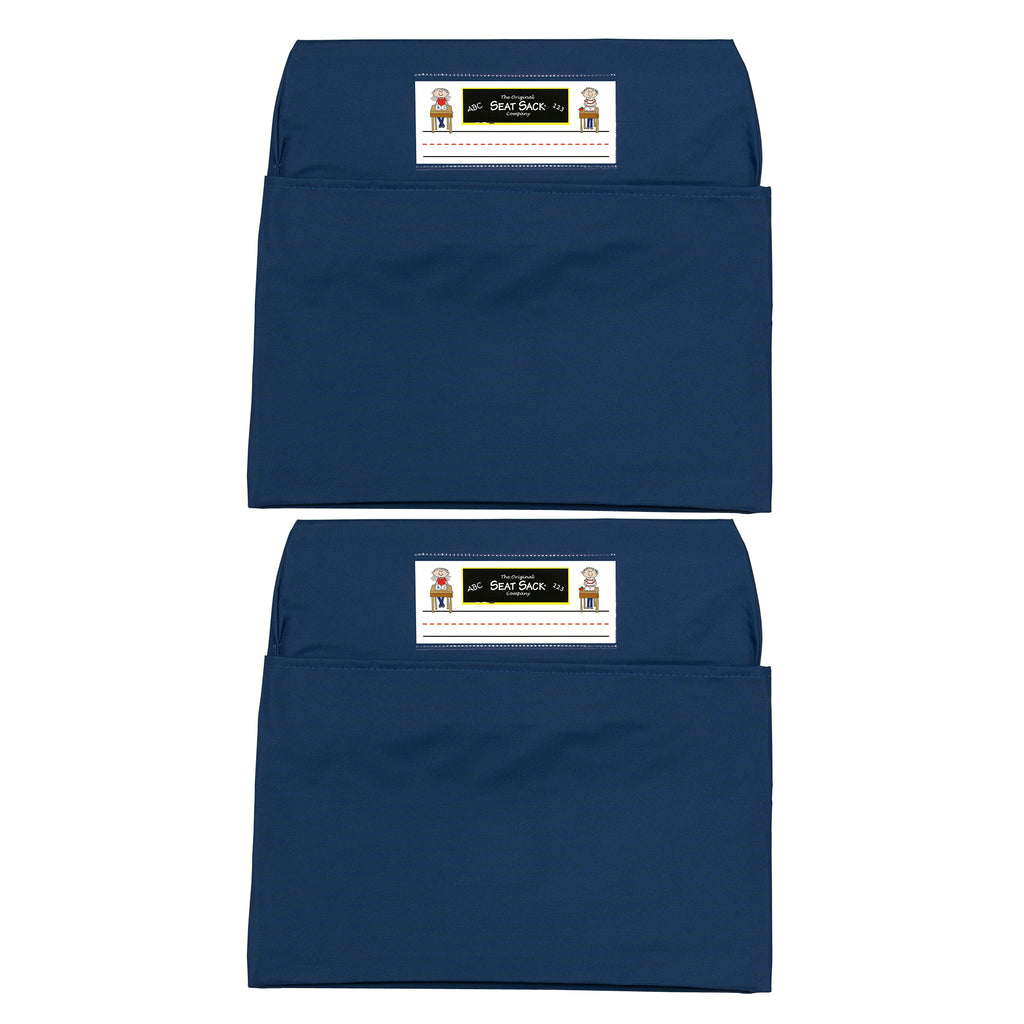 (2 Ea) Seat Sack Large 17in Blue