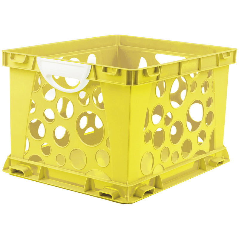 Premium File Crate W Handles Yellow Classroom