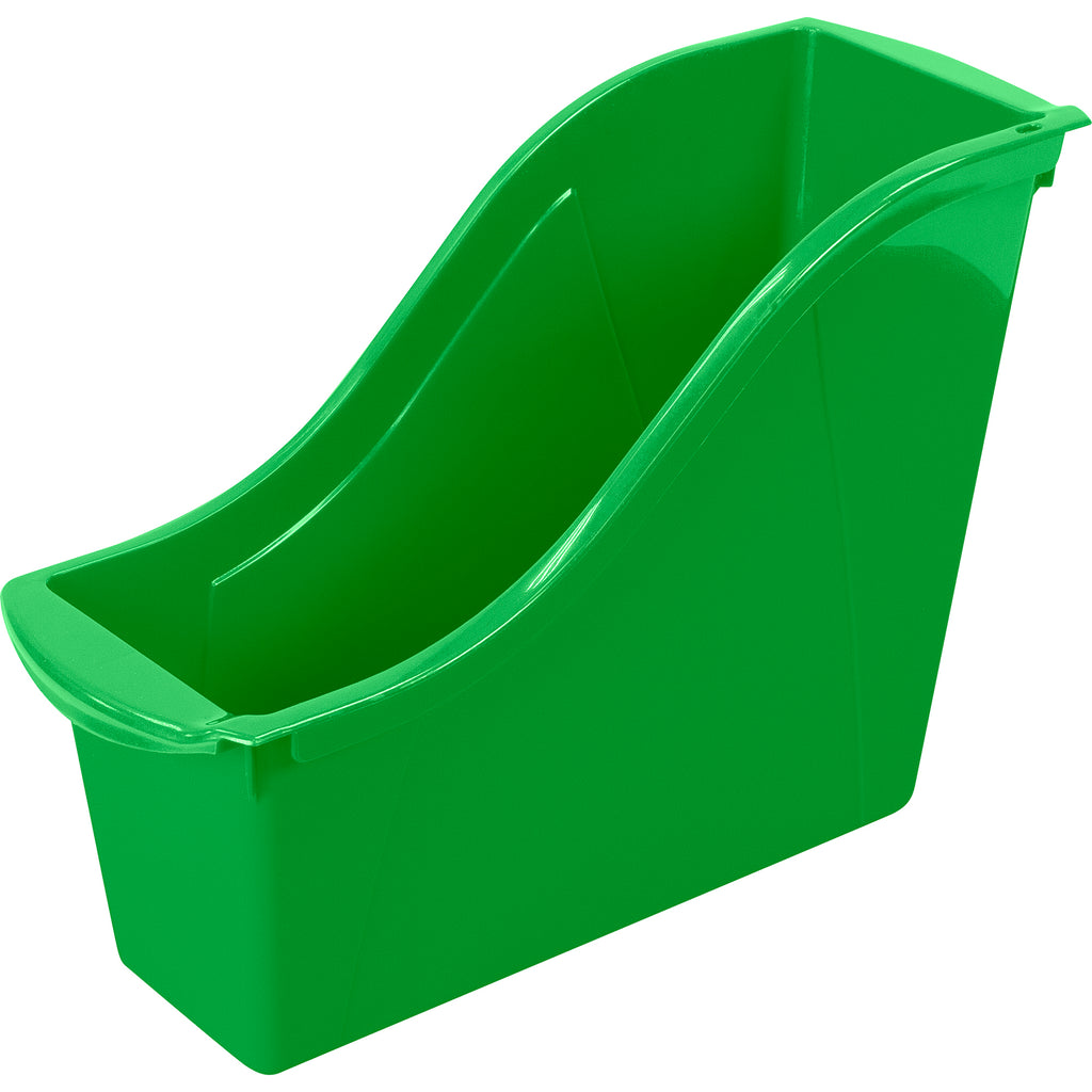 (6 Ea) Small Book Bin Green
