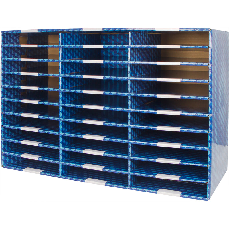 Laminated Corrugated Mailroom Sorter 30 Compartment