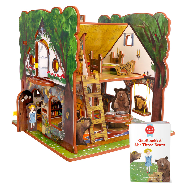 Goldilocks And The Three Bears Book And Playset