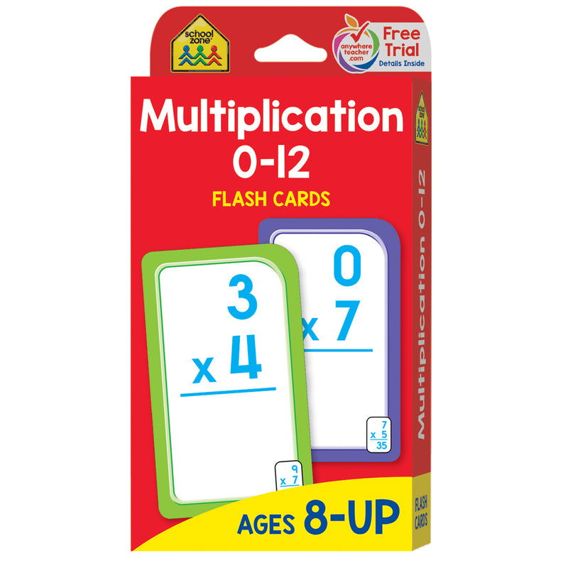 (12 Pk) Multiplication 0-12 Flash Cards