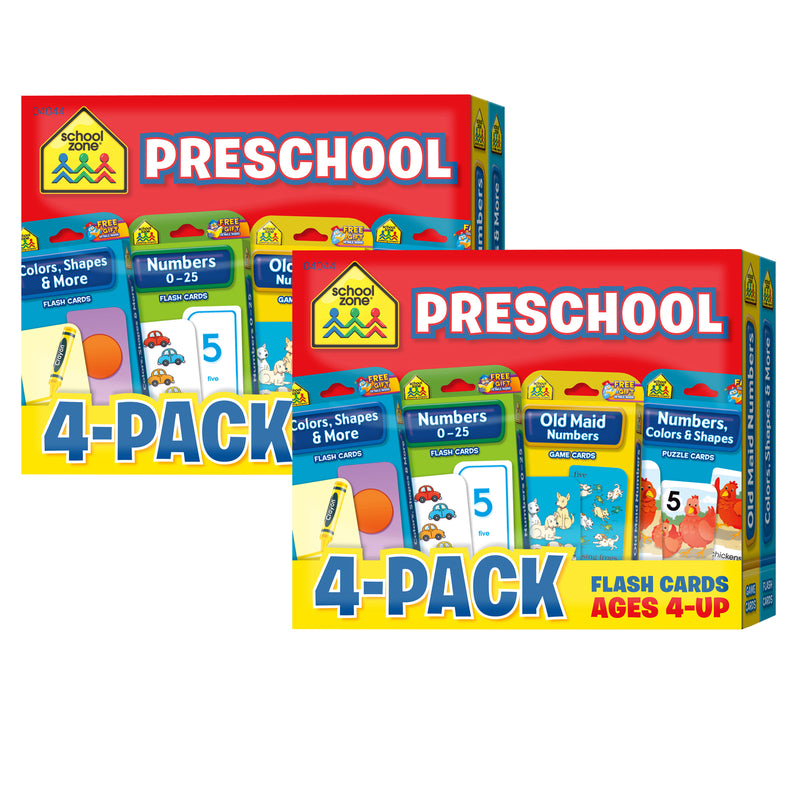 (2 Pk) Preschool Flash Cards 4 Pk