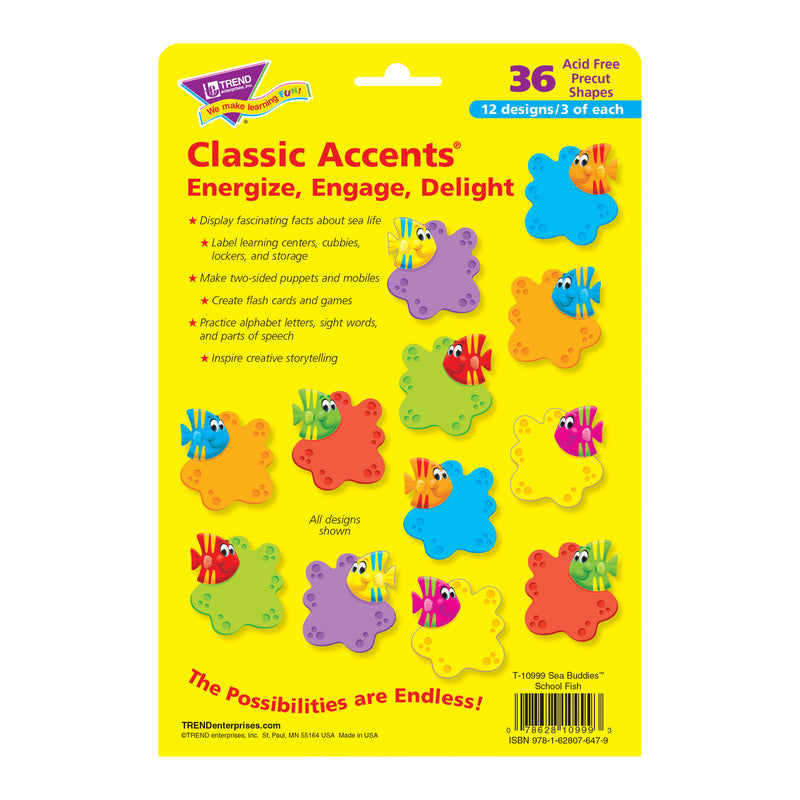 (3 Pk) Sea Buddies School Fish Classic Accents Variety Pack