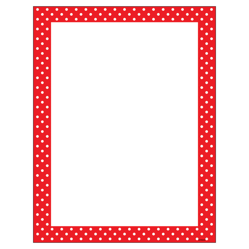 (6 Pk) Polka Dots Red Terrific Papers