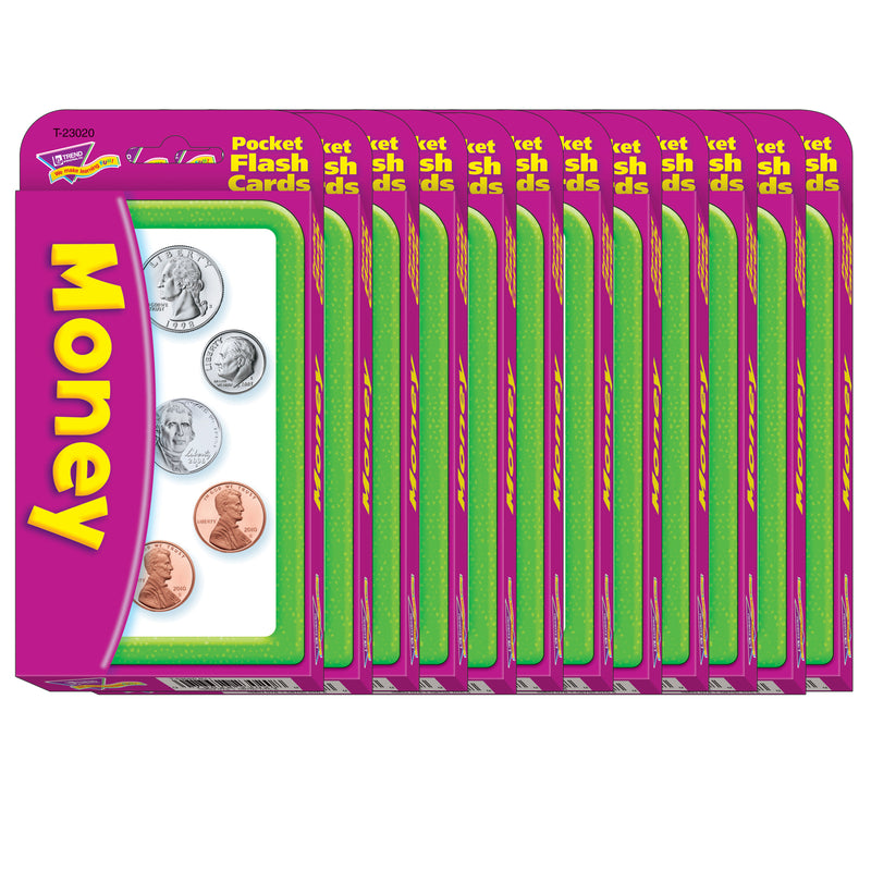 (12 Pk) Pocket Flash Crds 3x5 Money Two-sided Cards 56 Per Pk