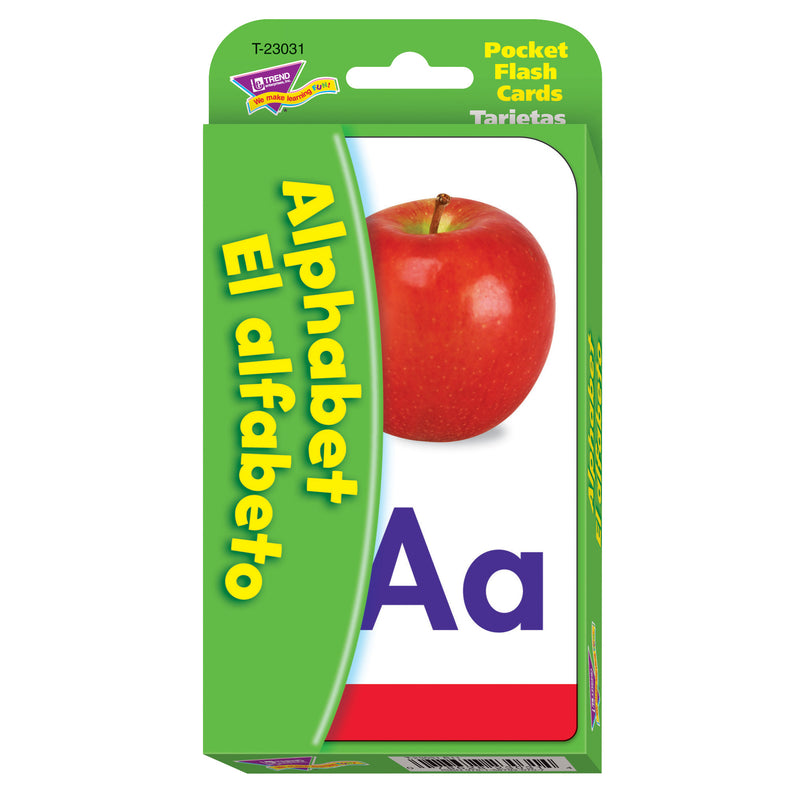 (6 Pk) Pocket Flash Cards Alphabet El Alfabeto