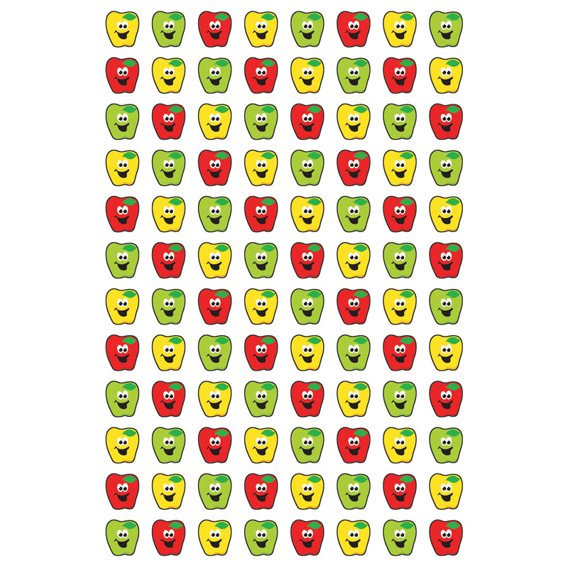 (12 Pk) Happy Apples Supershape Superspots - Shapes Stickers