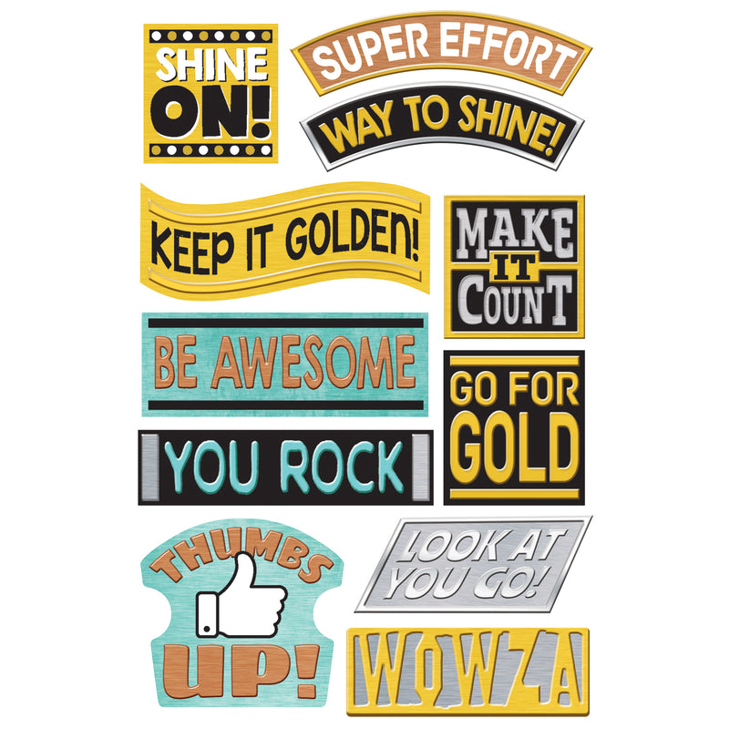 Motivating Messgs Sprshps Stickers Large I Love Metal