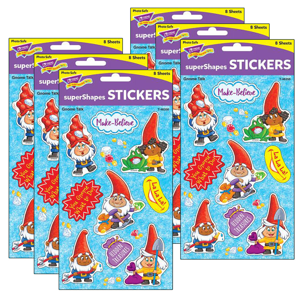 (6 Pk) Gnome Talk Large Stickers 72ct