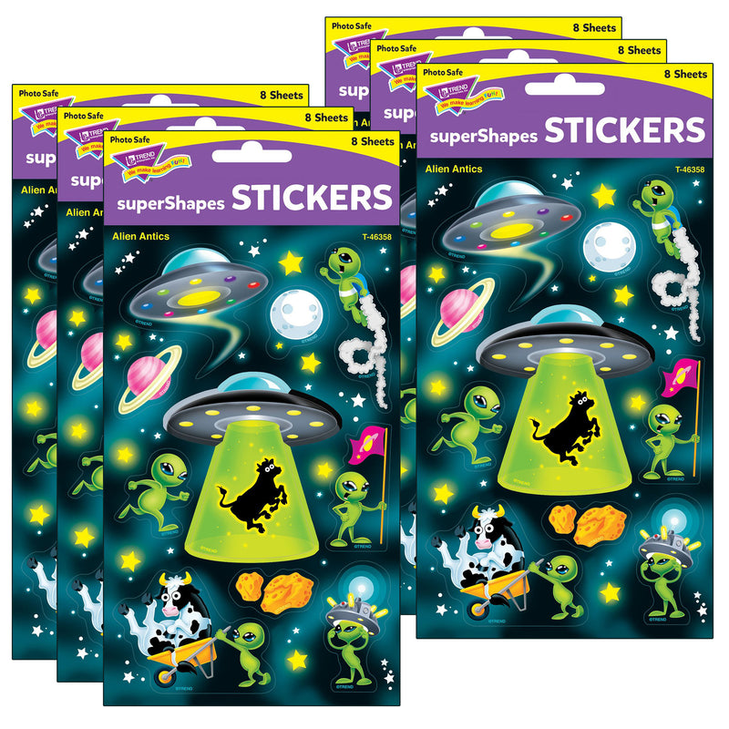(6 Pk) Alien Antics Large Stickers 80 Ct