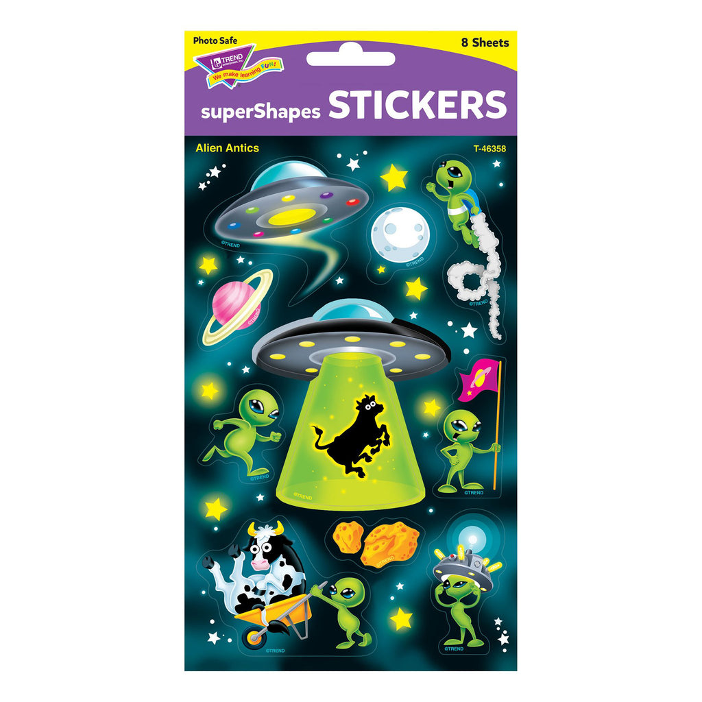 Alien Antics Large Stickers 80 Ct