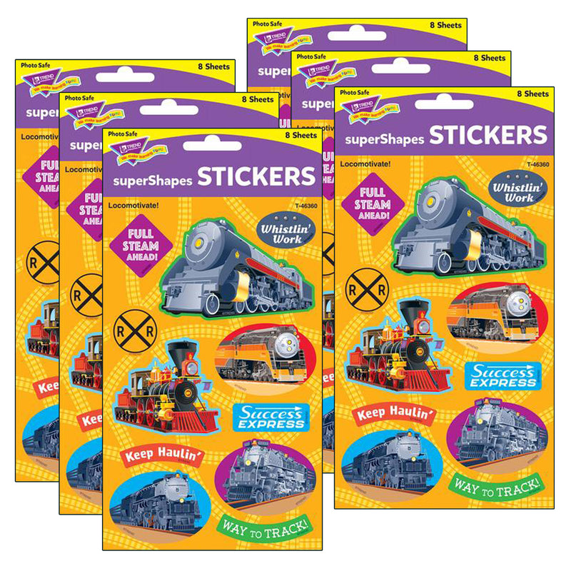 (6 Pk) Locomotivate Large Stickers 88 Ct