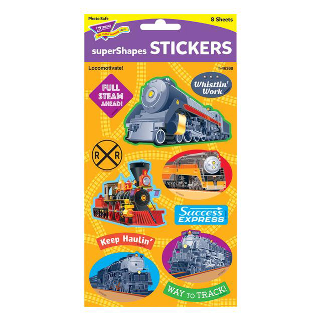 Locomotivate Large Stickers 88 Ct