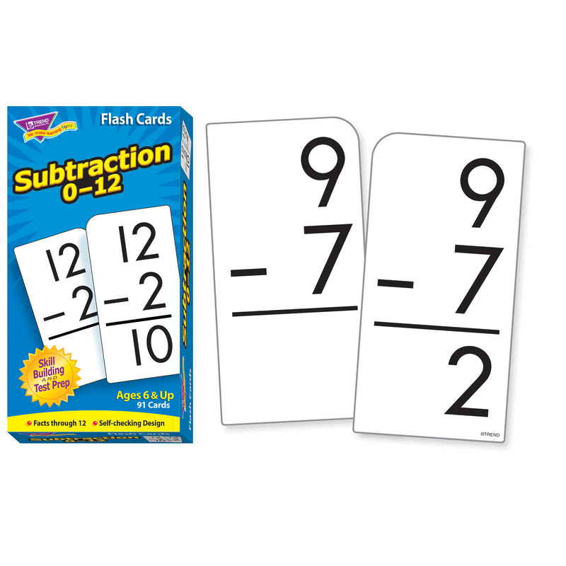 Flash Cards Subtraction 0-12 91-box