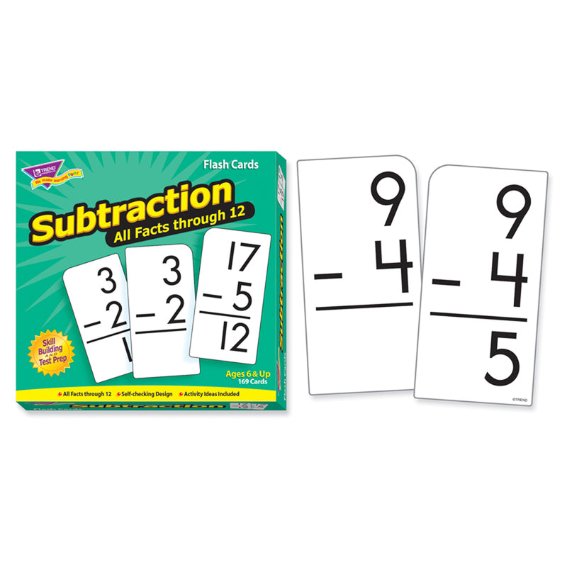 Flash Cards All Facts 169-box 0-12 Subtraction