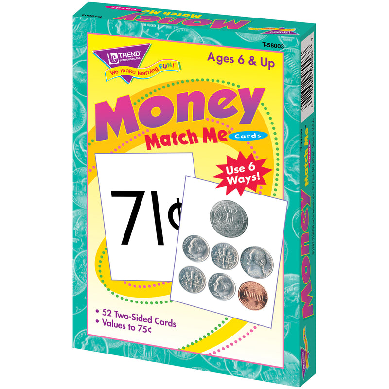 Match Me Cards Money 52-box Two Sided Cards Ages 6 & Up