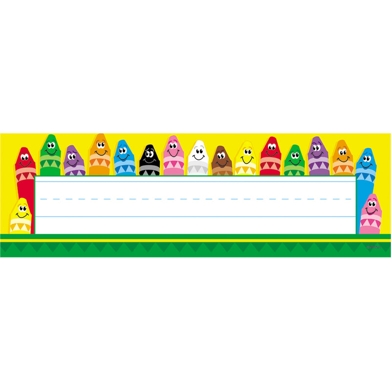 (12 Pk) Desk Toppers Colorful 36 Per Pk 2x9 Crayons