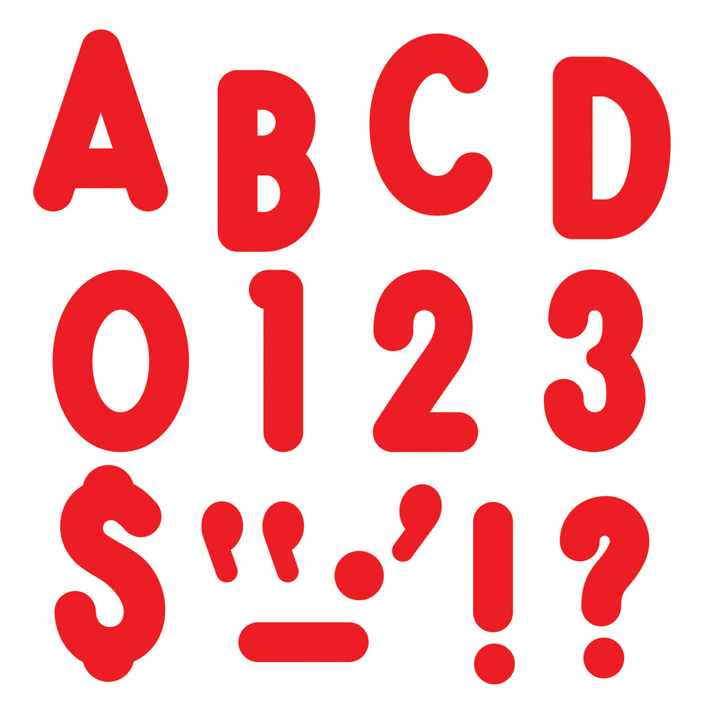 (3 Pk) Ready Letters 7in Red Uppercase Billboard Font